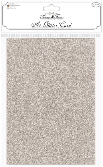 Happymade - Craft Consortium - Glitter Card - Champagne (10 ark)
